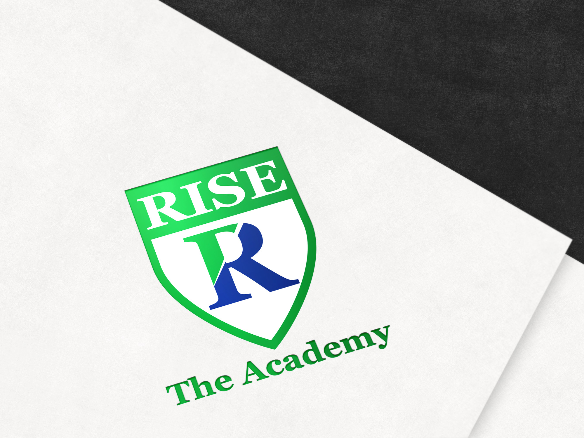 Coat of arms designed for the Rise Lacrosse school from Canada