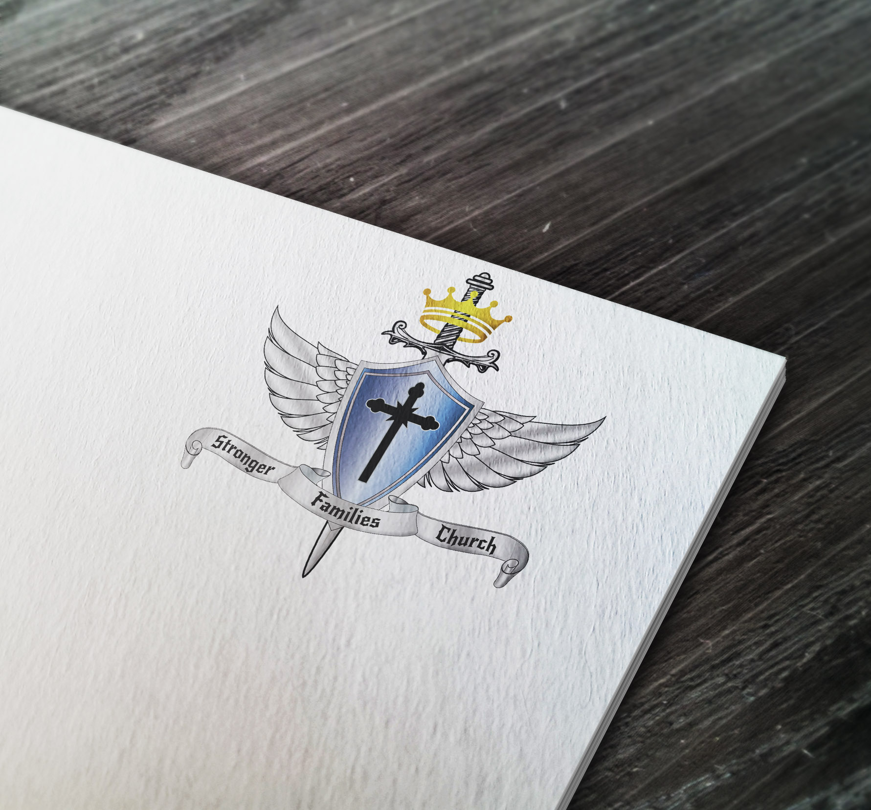 Coat of arms designed for the Stronger Families Church in the USA