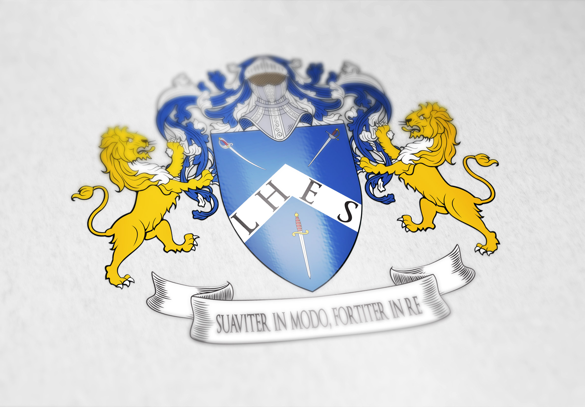 Coat of arms designed for the fencing club in Taiwan
