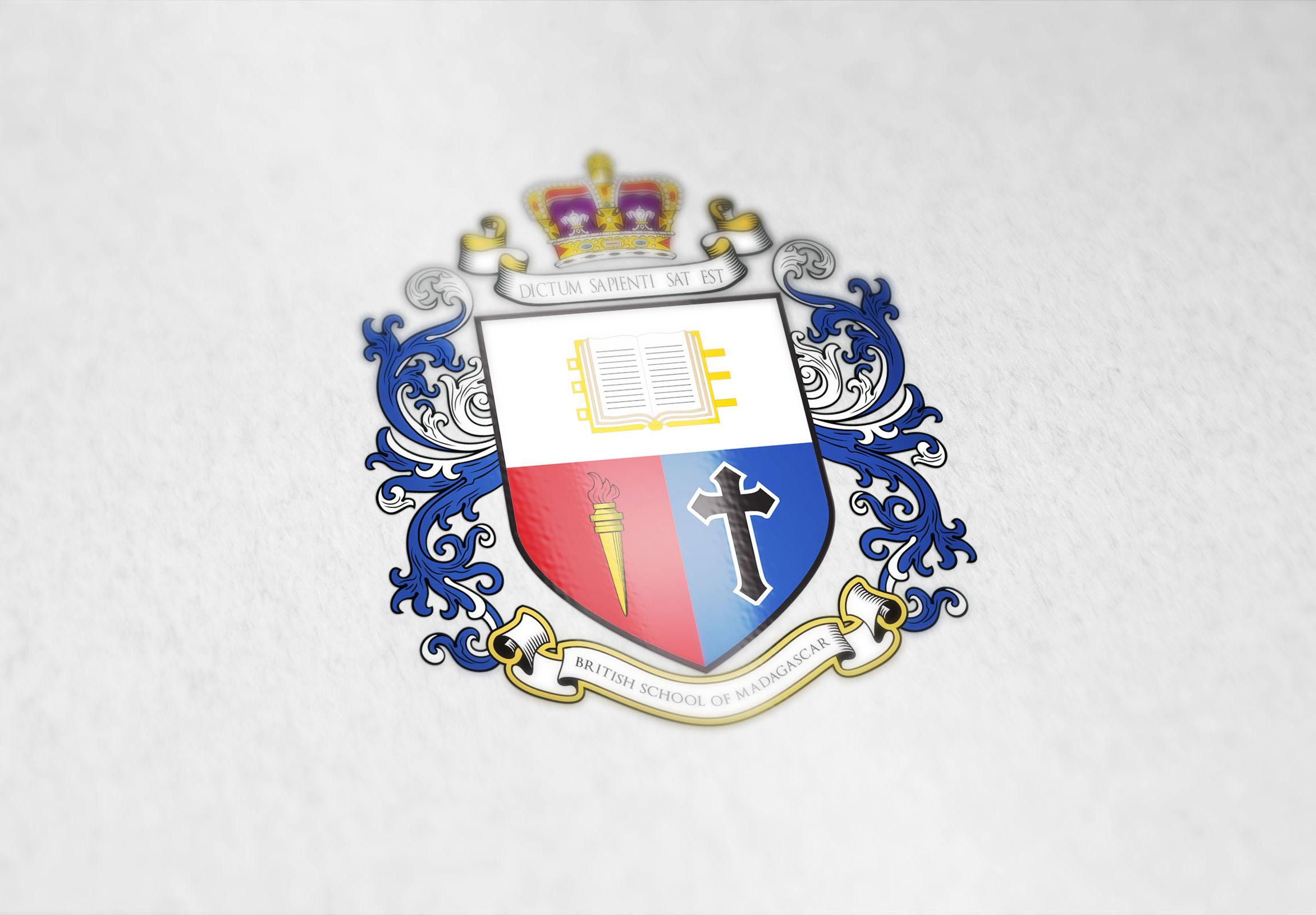 Coat of arms for the British School of Madagascar - Custom