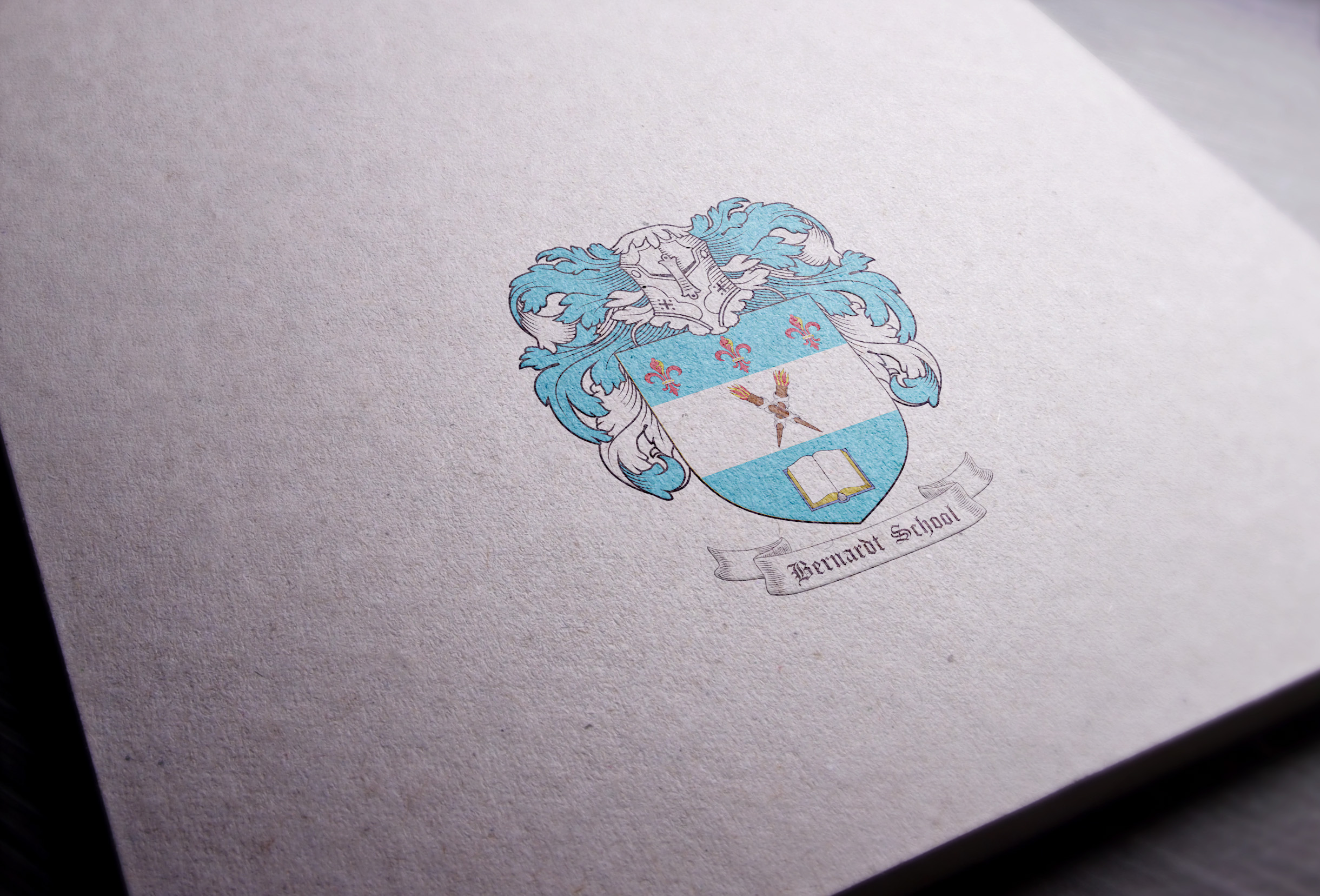 Coat of arms designed for the Bernardt School from Germany