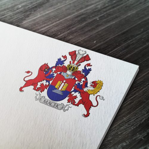 Coat of arms designed for a family from Finland