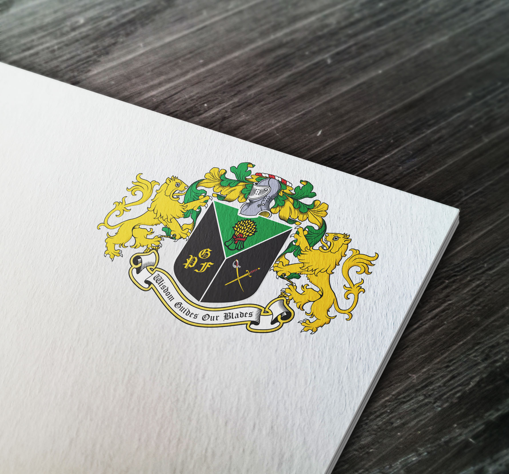 Coat of arms designed for a fencing club in Thailand