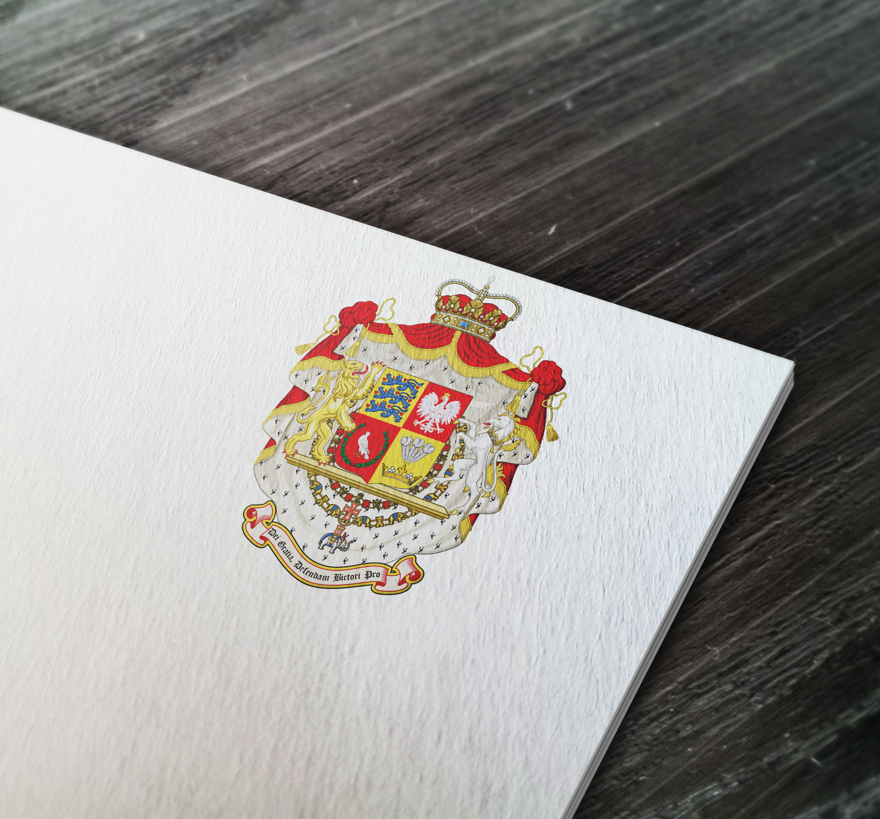 Coat of arms designed for one my clients from the USA