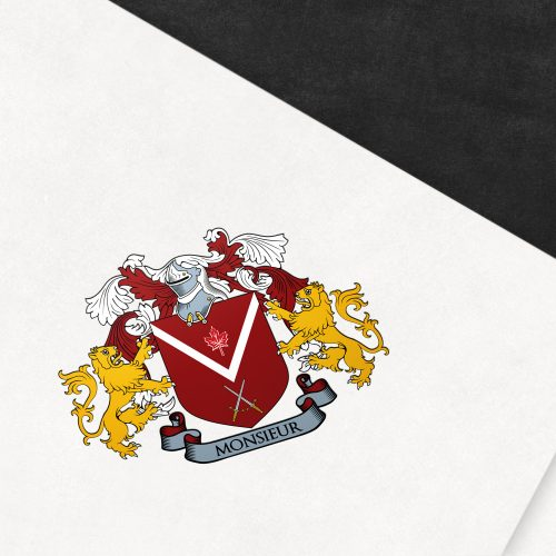 Coat of arms designed for the Monsieur family from Canada