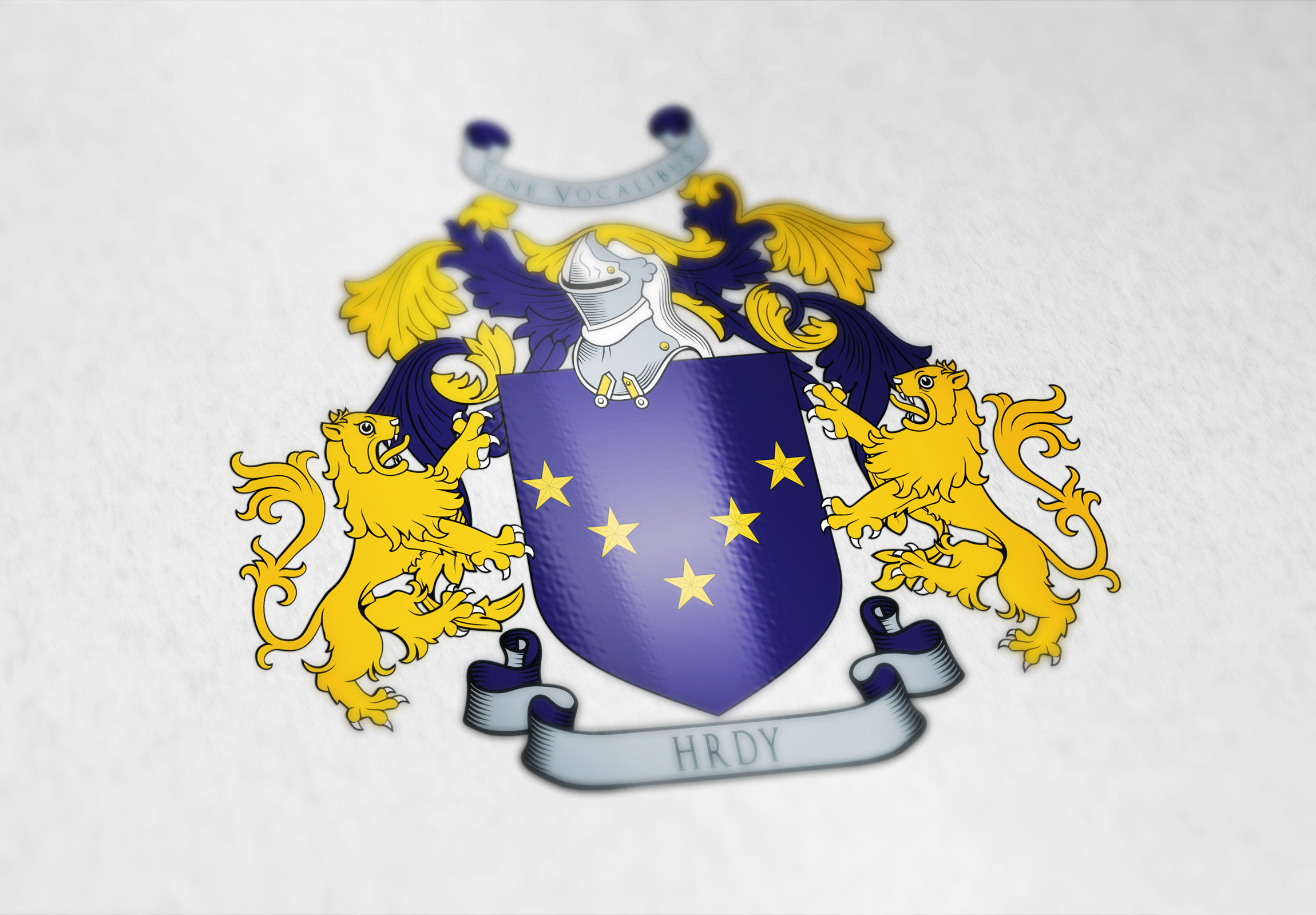 Coat of arms designed for the Hrdy Czech-American family