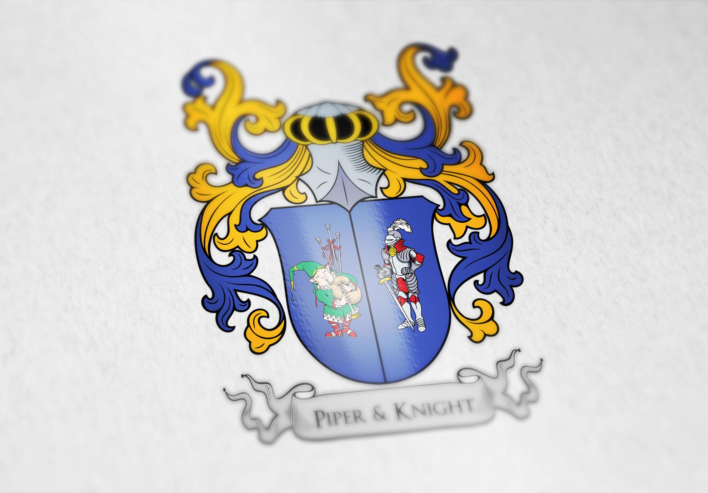 Coat of arms for the piperknight company usa custom coat of coat of arms designed for the piperknight company buycottarizona