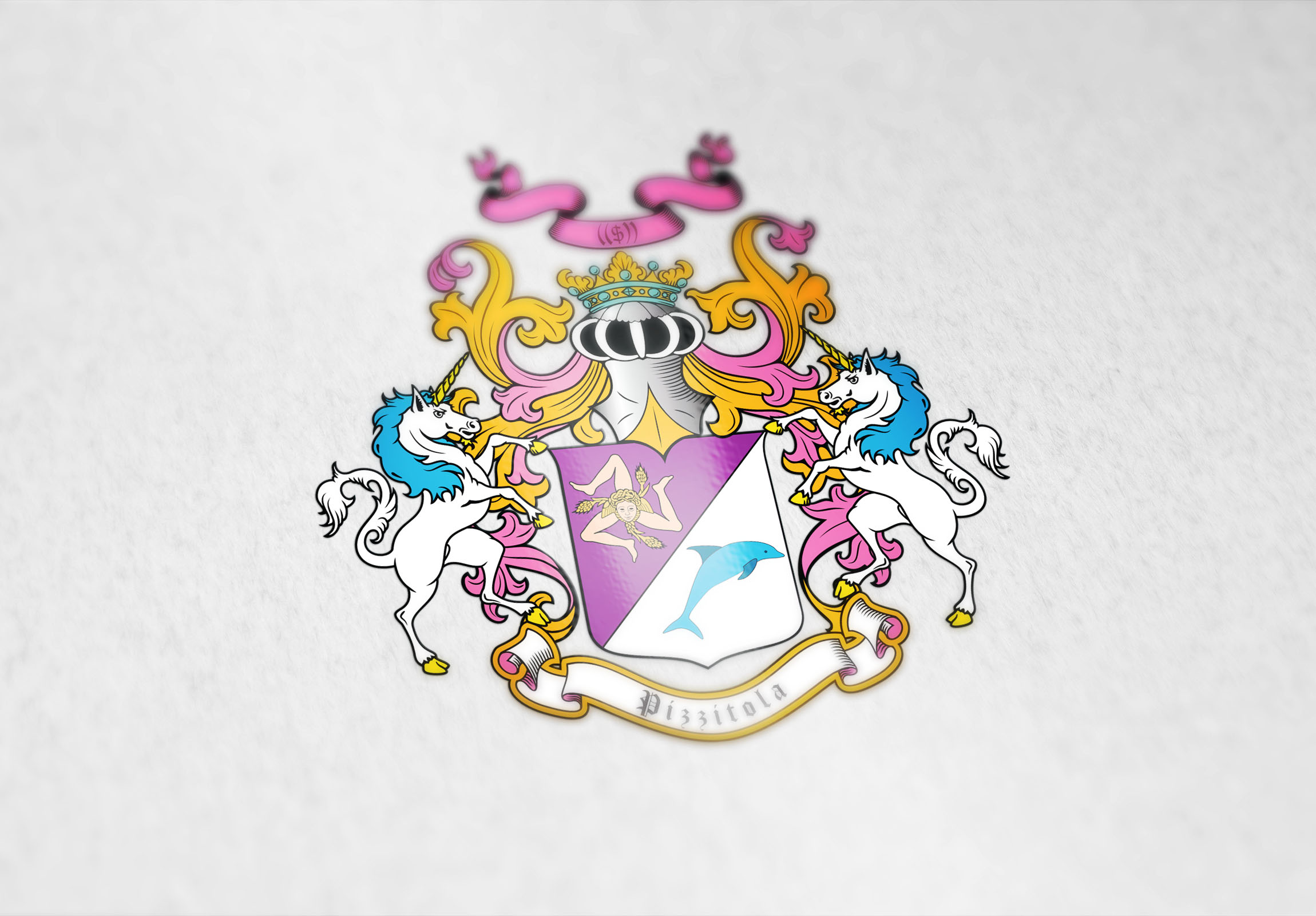 Coat of arms designed for a girl surfer from Italy