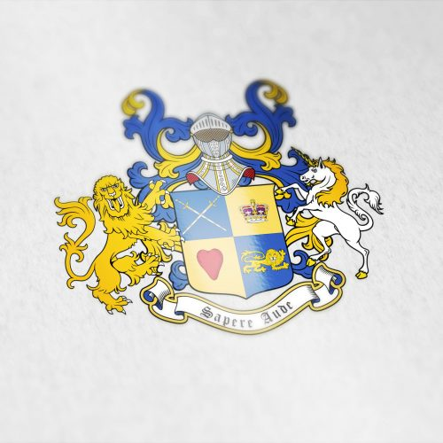 Coat of arms designed for a client from New Zealand