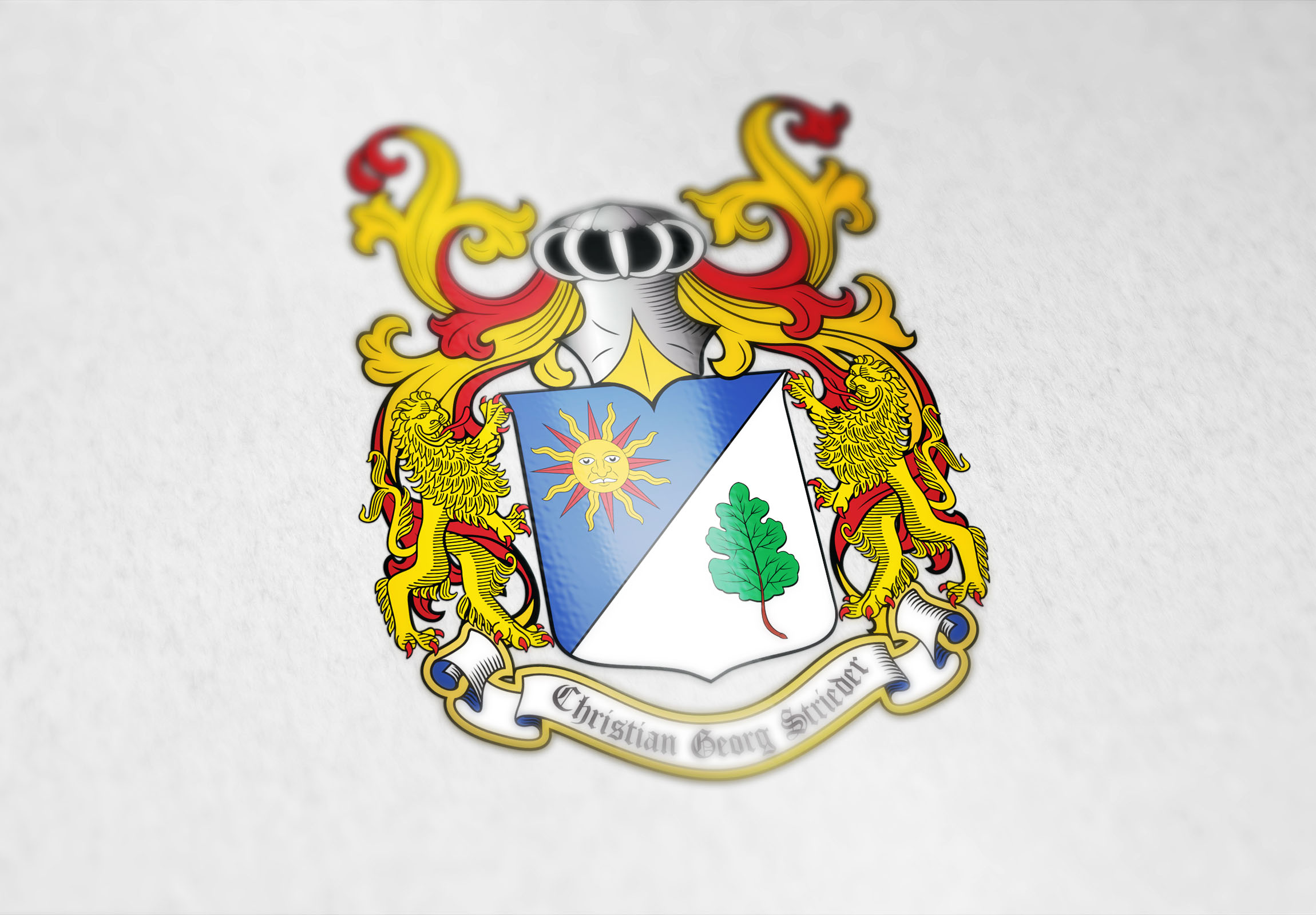 Coat of arms designed for the Strieder family from Australia