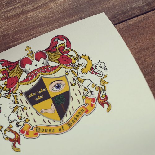 Coat of arms designed for a client from The United Arab Emirates