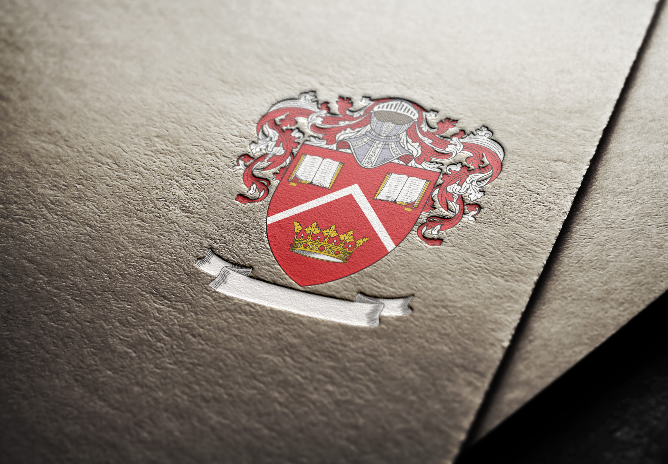 Coat of arms I designed for a family from the USA.