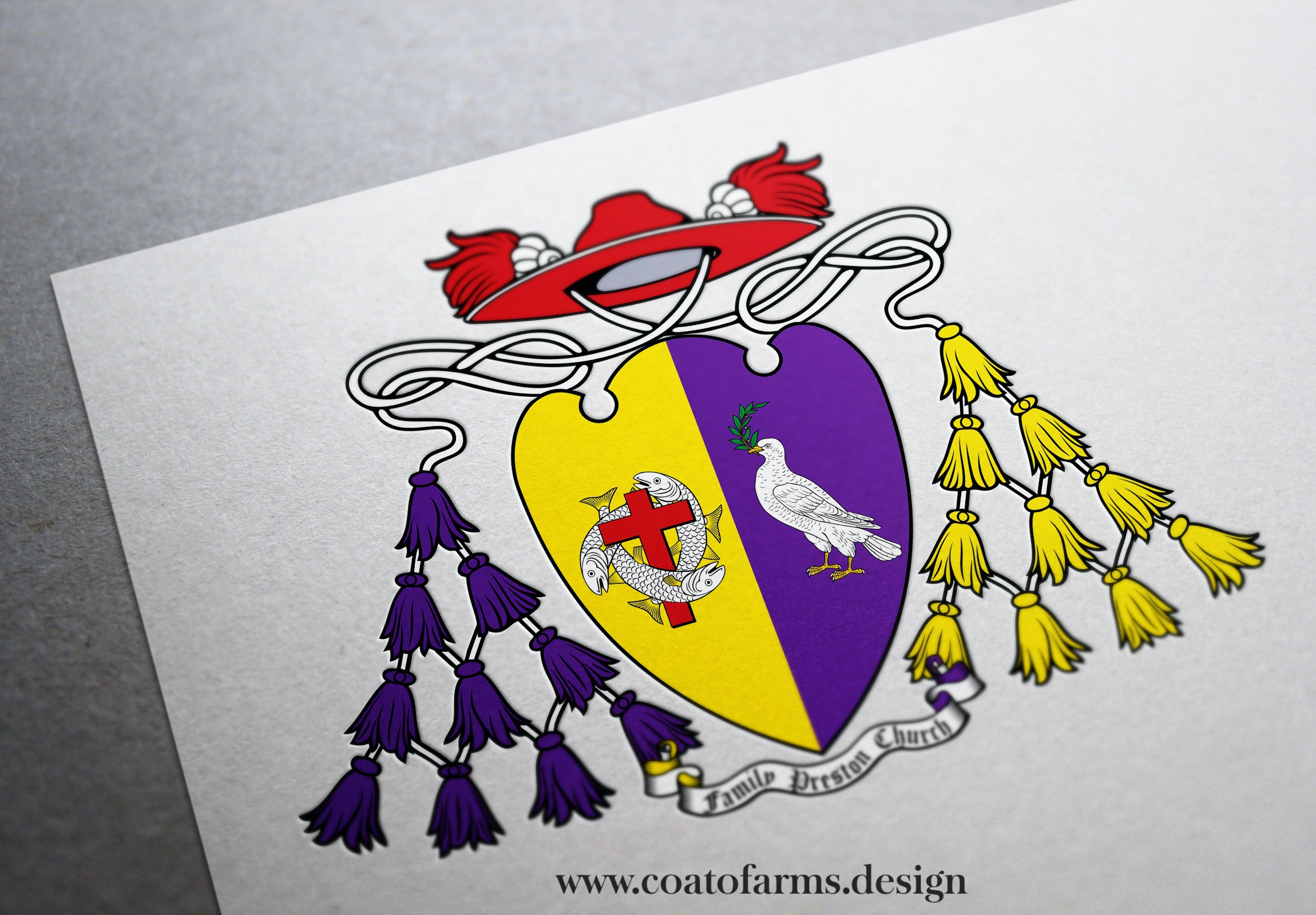 Coat of arms for an archbishop from the Preston Church Family