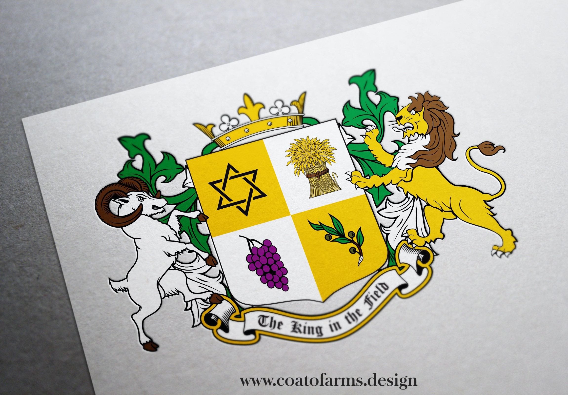 coat of arms for a Hebrew family from the USA