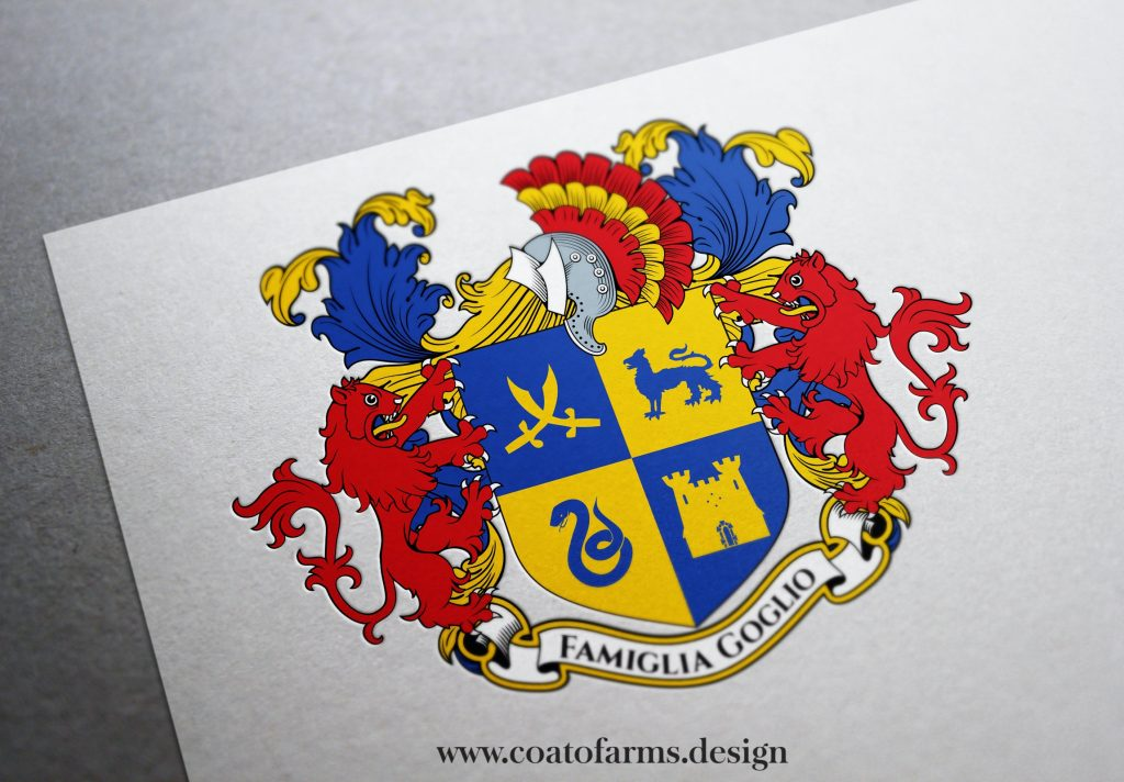 coat of arms for the Famiglia Goglio from the usa