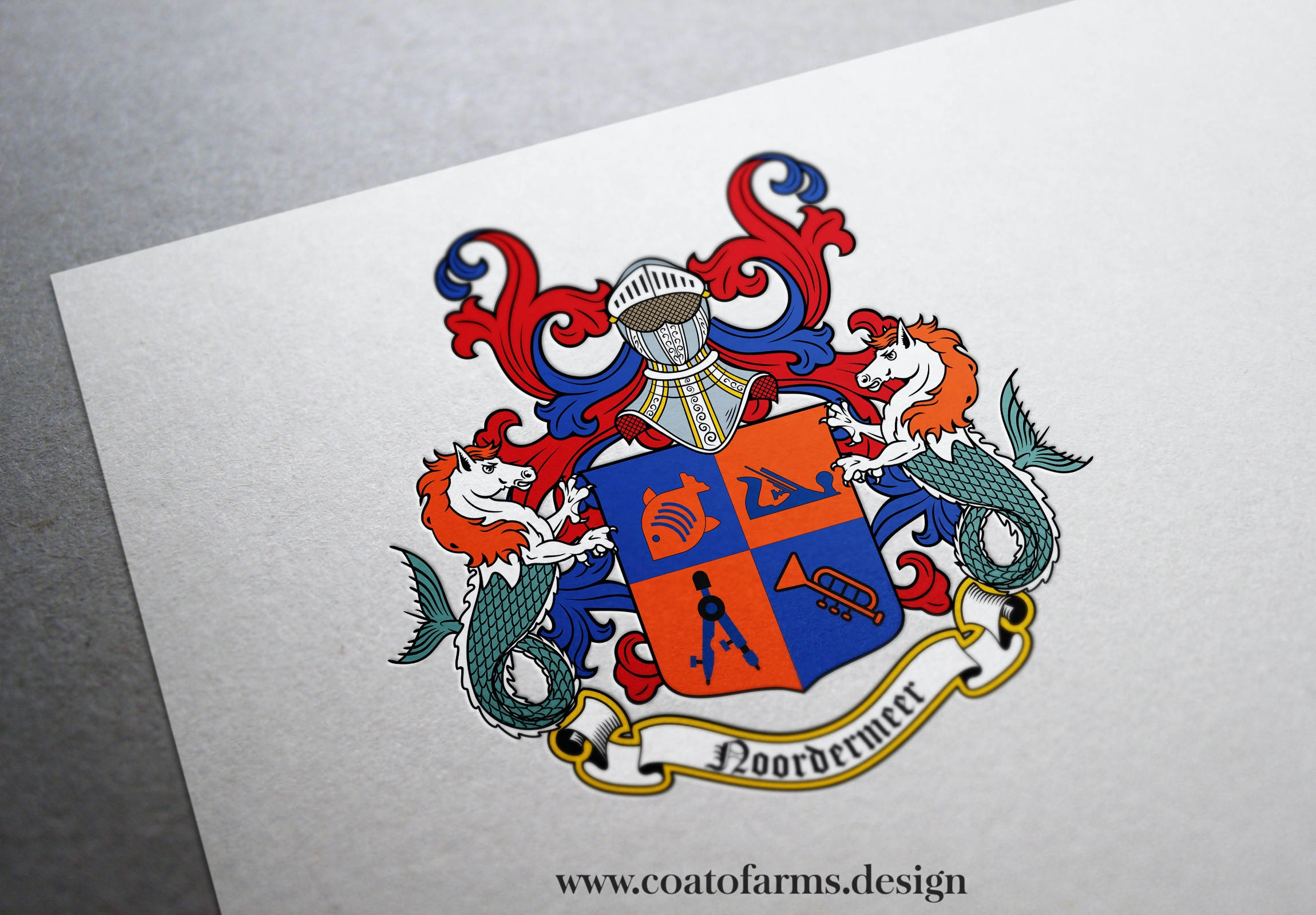 wedding coat of arms for a couple from Netherlands