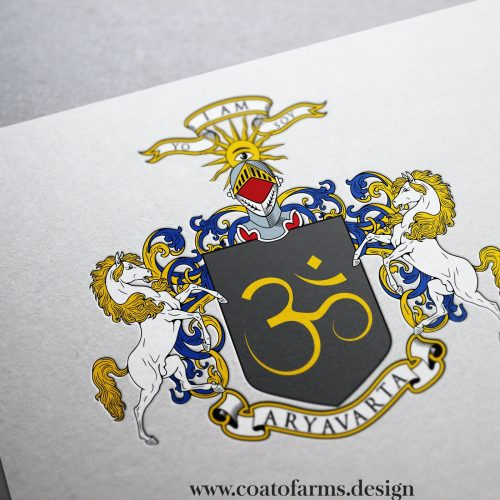 coat of arms family crest for an indian family