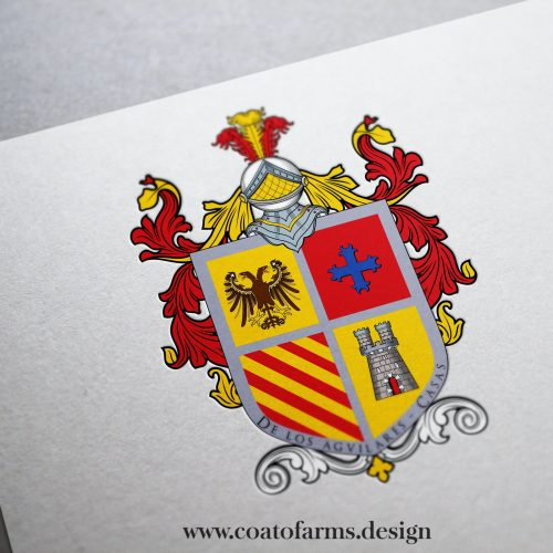 coat of arms family crest i redesigned for a french family according to the existing relief