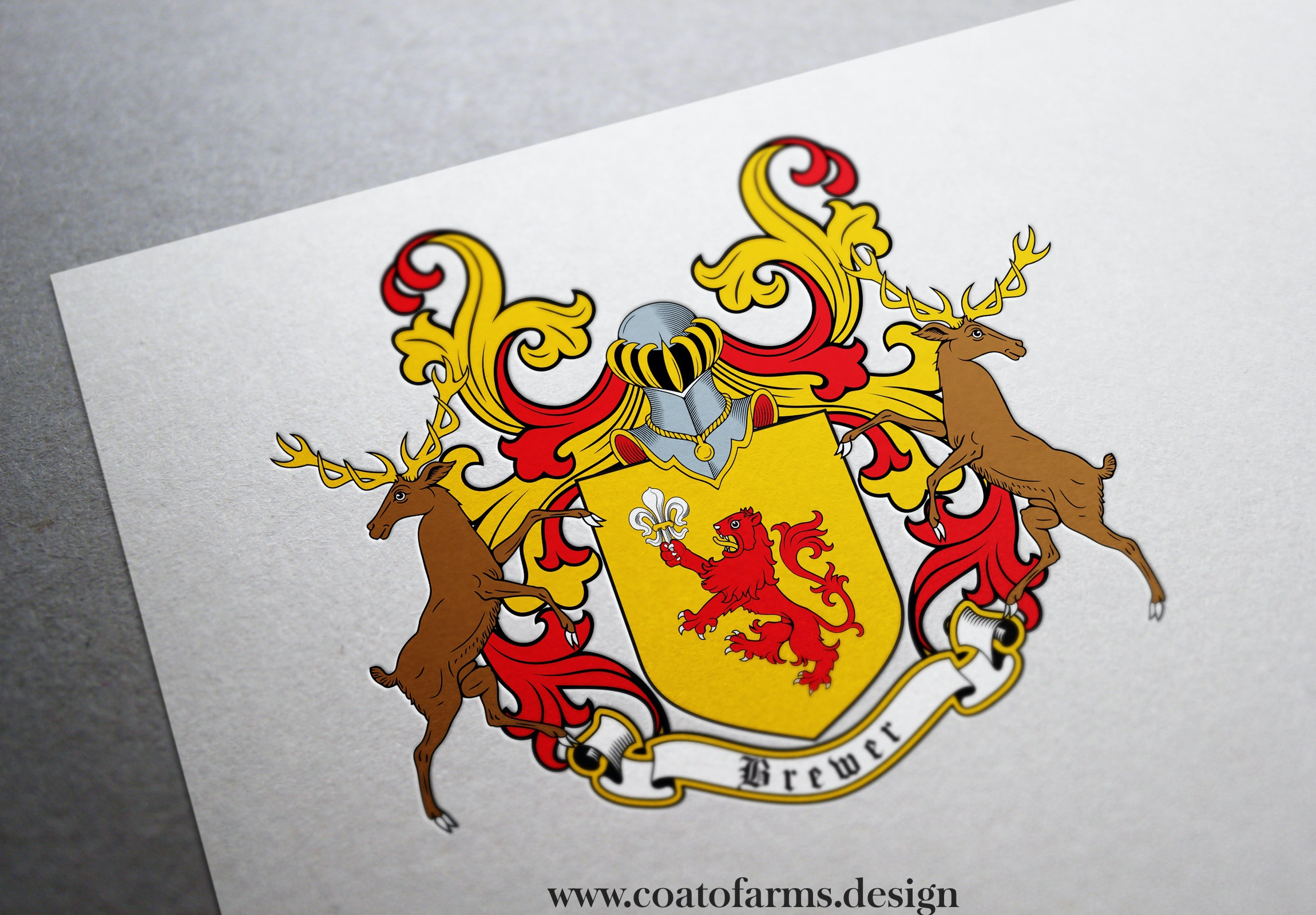 Coat of arms I designed for a Brewer family USA