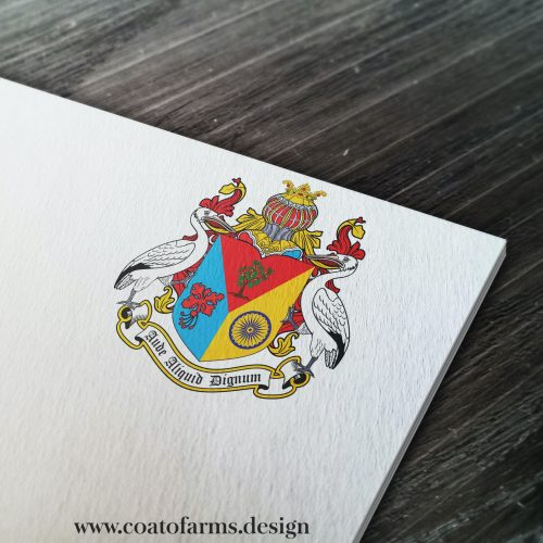 Coat of arms I designed for a USA citizen with a Barbados and Guyana ancestry