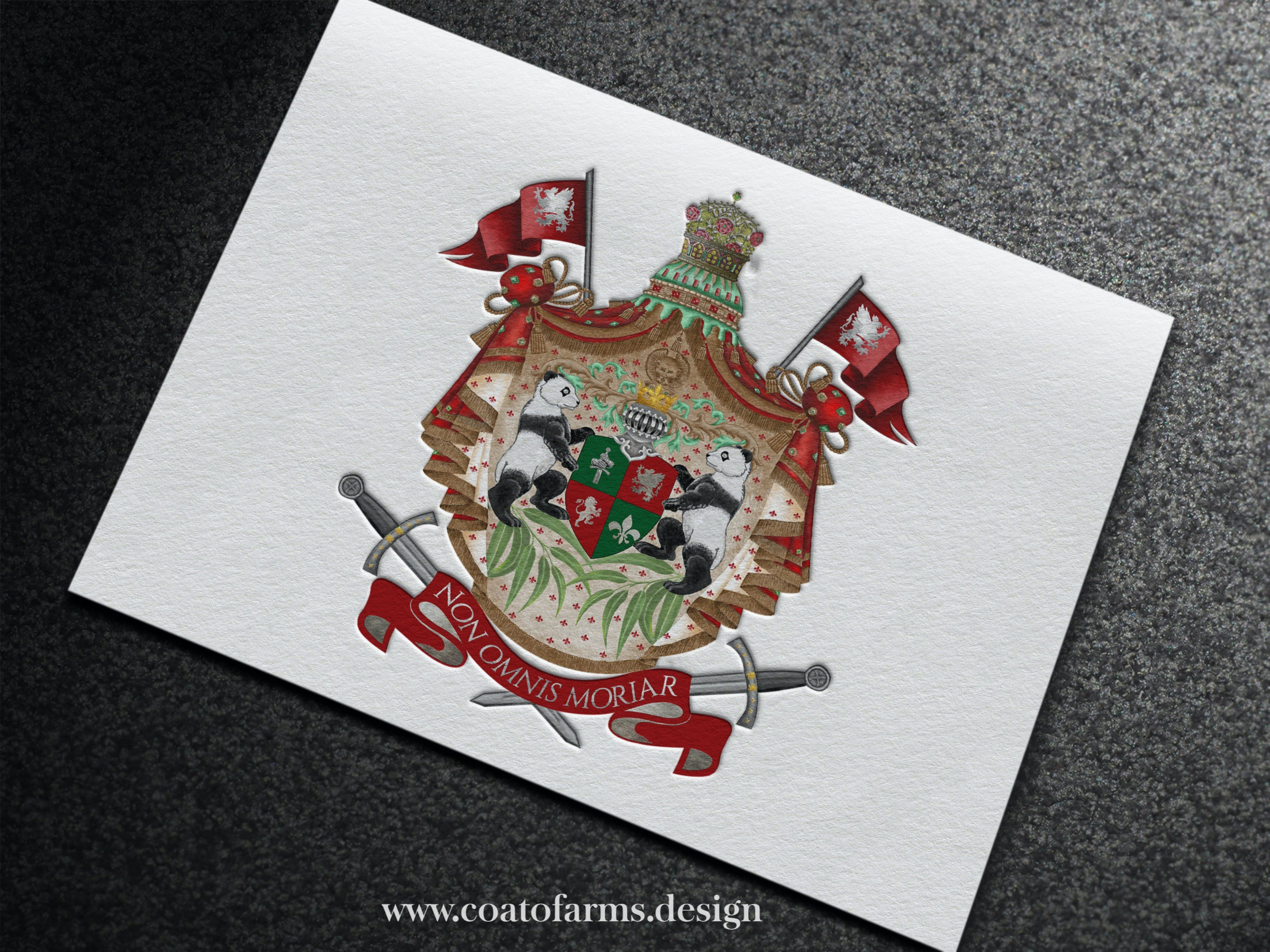 Coat Of Arms I Designed For An Australian Family Panda Lovers