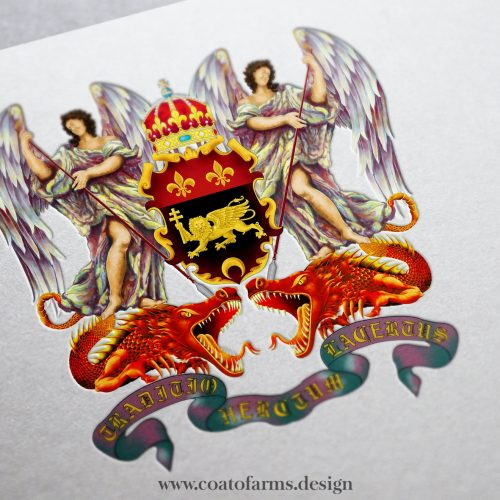 coat of arms family crest I designed for a family from italy