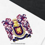 coat of arms family crest i designed for a lawyer from Macedonia