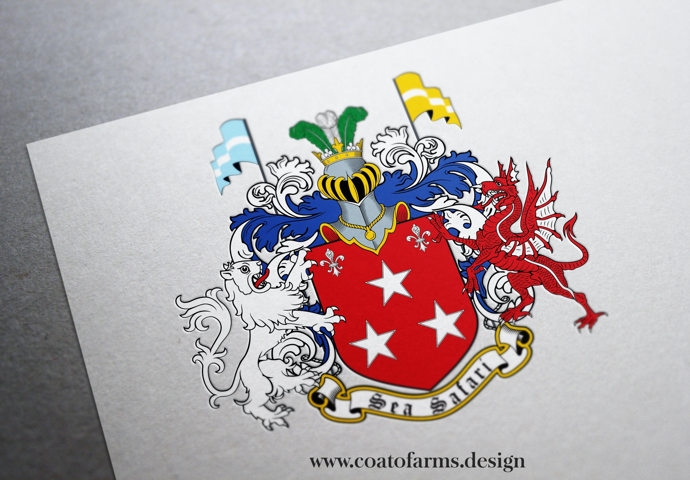 Coat of arms I designed for a businessman from Latvia