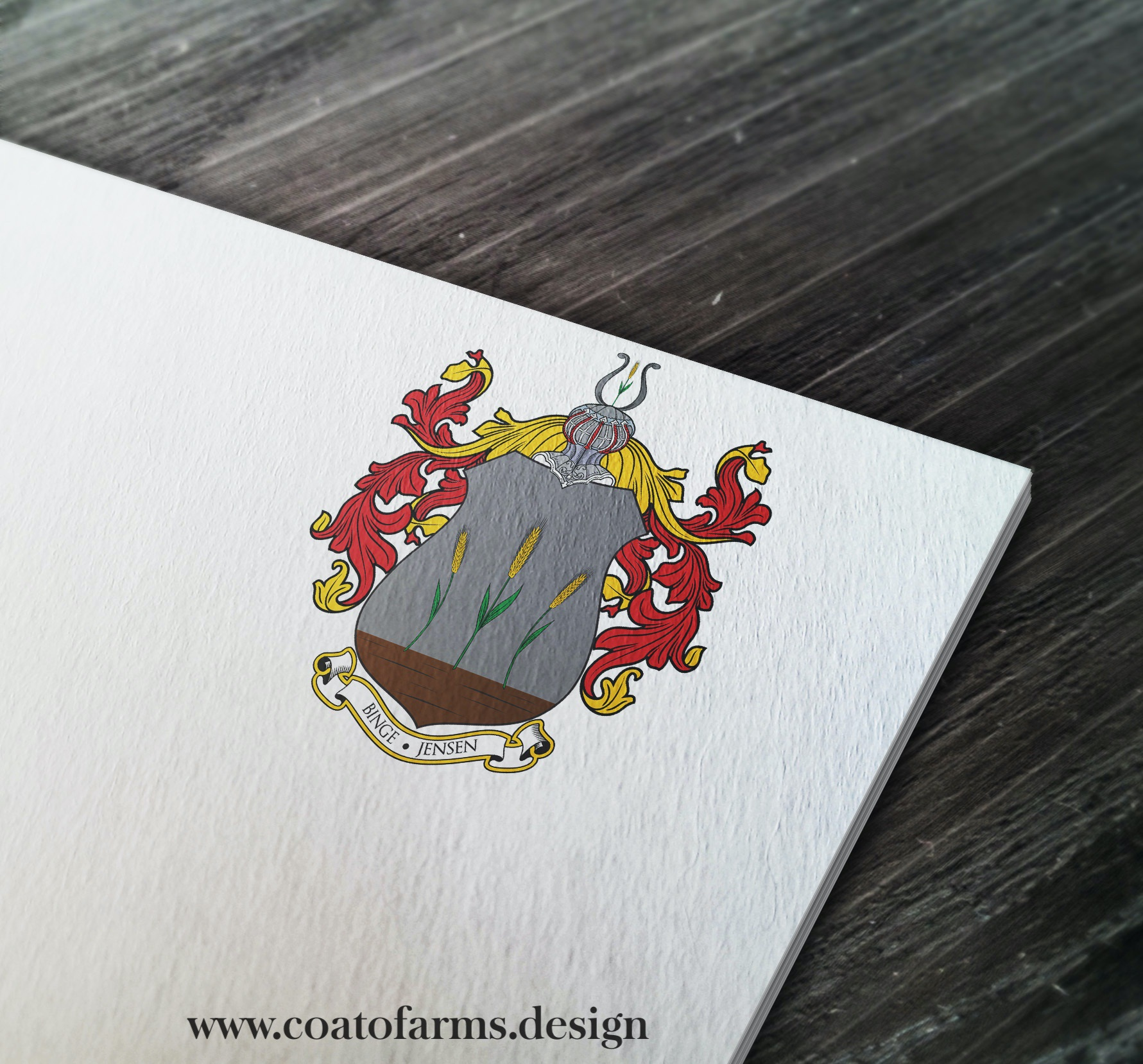 Coat of arms I designed for a client from Germany, based on his signet 1