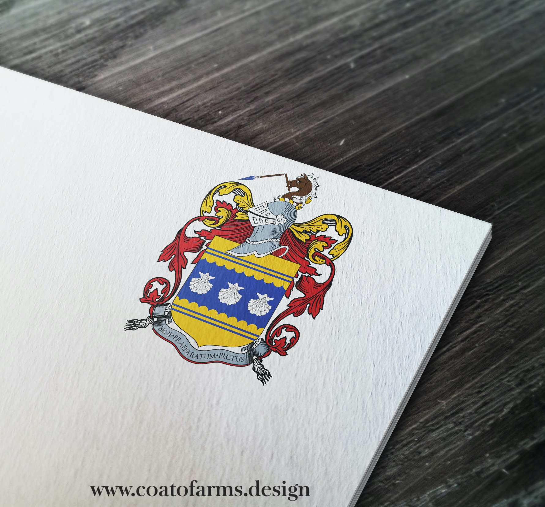 Coat of arms I designed for a family from the USA, based on the their sketch