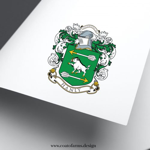 Coat of arms I designed for Hanly family from the USA