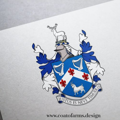 Coat of arms I redesigned for a British family according to the existing painted relief (with some changes)