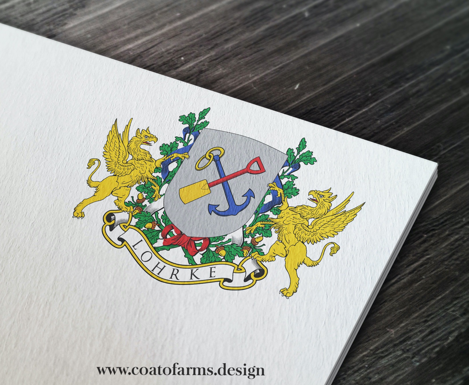 Coat of arms (emblem) I designed for a client's grandparents for their 60th wedding anniversary