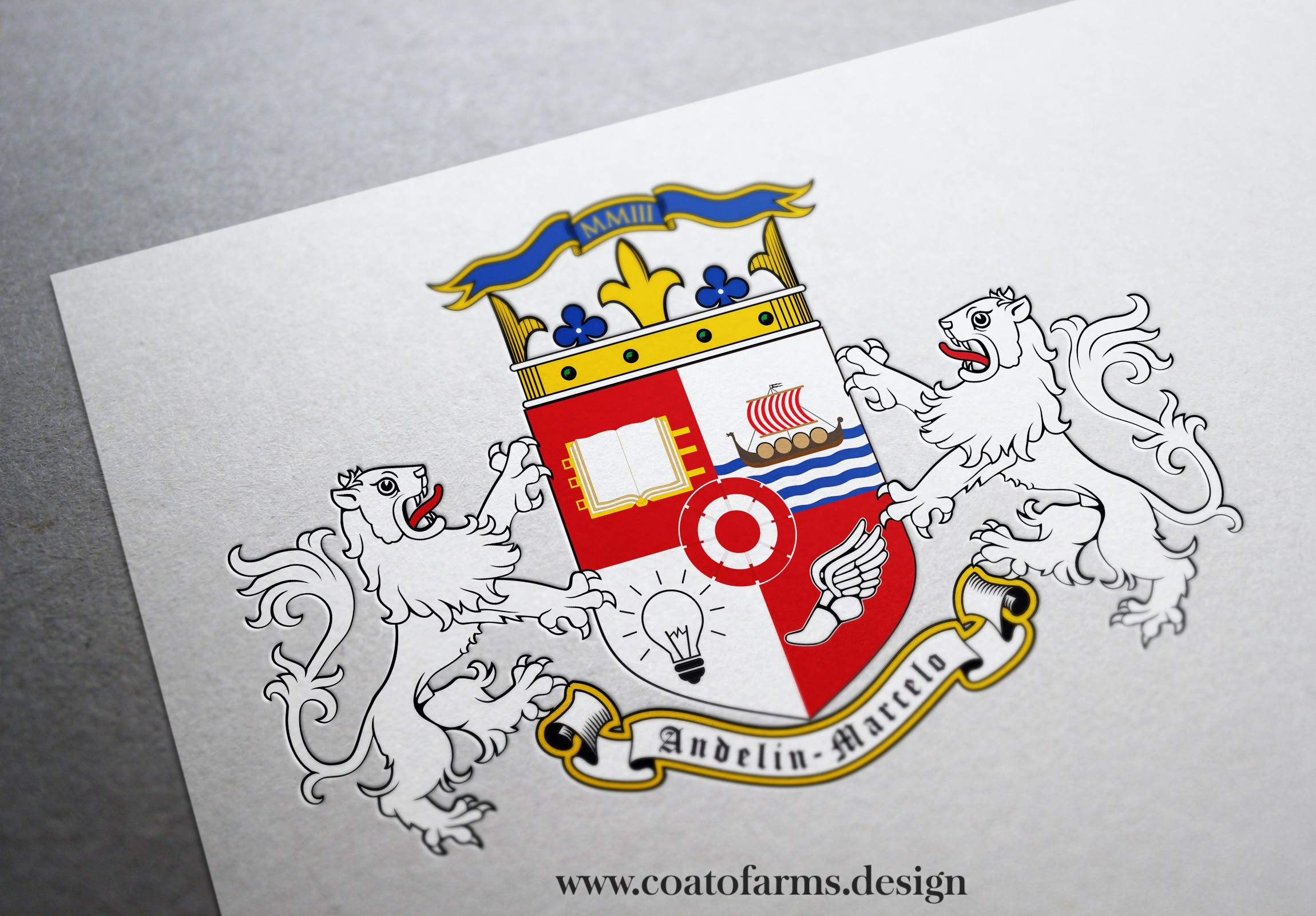 Coat of arms (emblem) I designed for a company from Peru