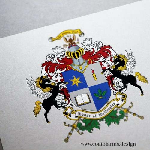 Coat of arms (emblem) I designed for a company House of Wellington from the USA