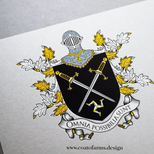 Coat of arms (emblem) I designed for a luxury food brand Riviera Gold Label