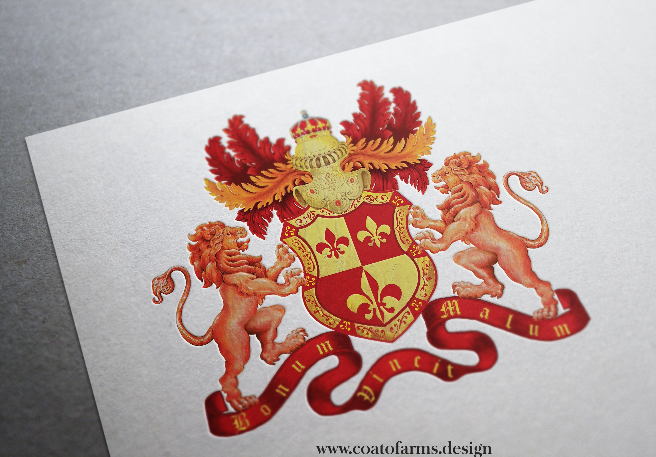 Coat of arms (emblem) I designed for a medical doctor from Germany