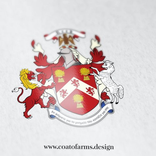 Coat of arms (family crest) I designed for a Reed family from Canada