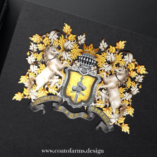 Coat of arms (emblem) I designed for a family from the USA