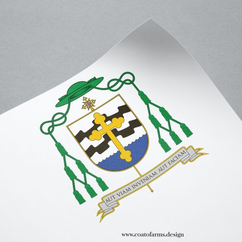 Coat of arms I designed for a bishop emeritus from the USA