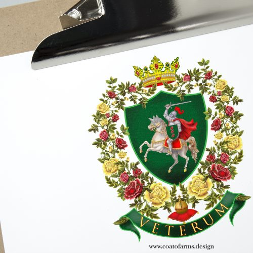 Coat of arms I designed for a bit mysterious lady from the Netherlands