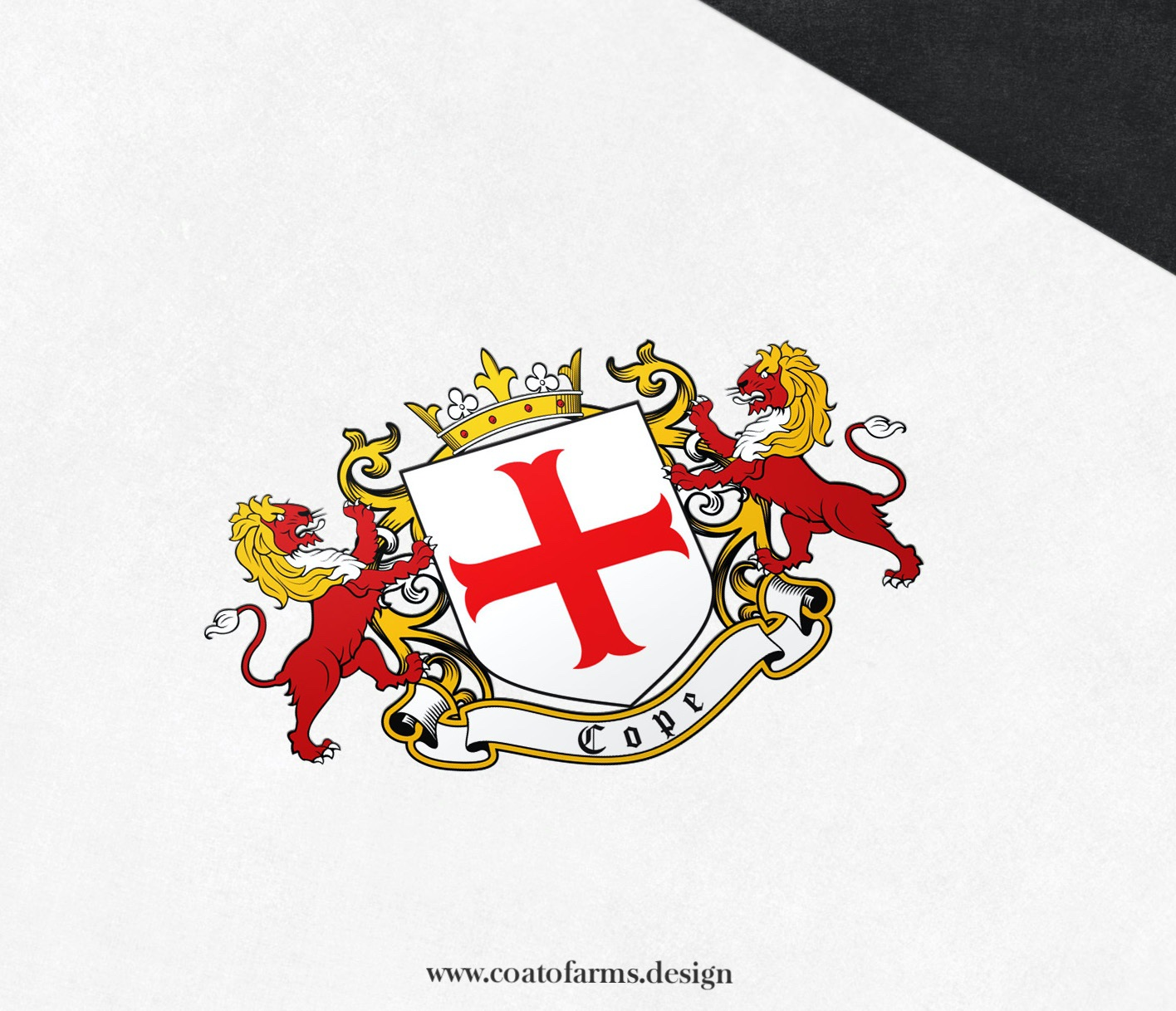Coat of arms I designed for a small family company Cope & Sons from the United Kingdom