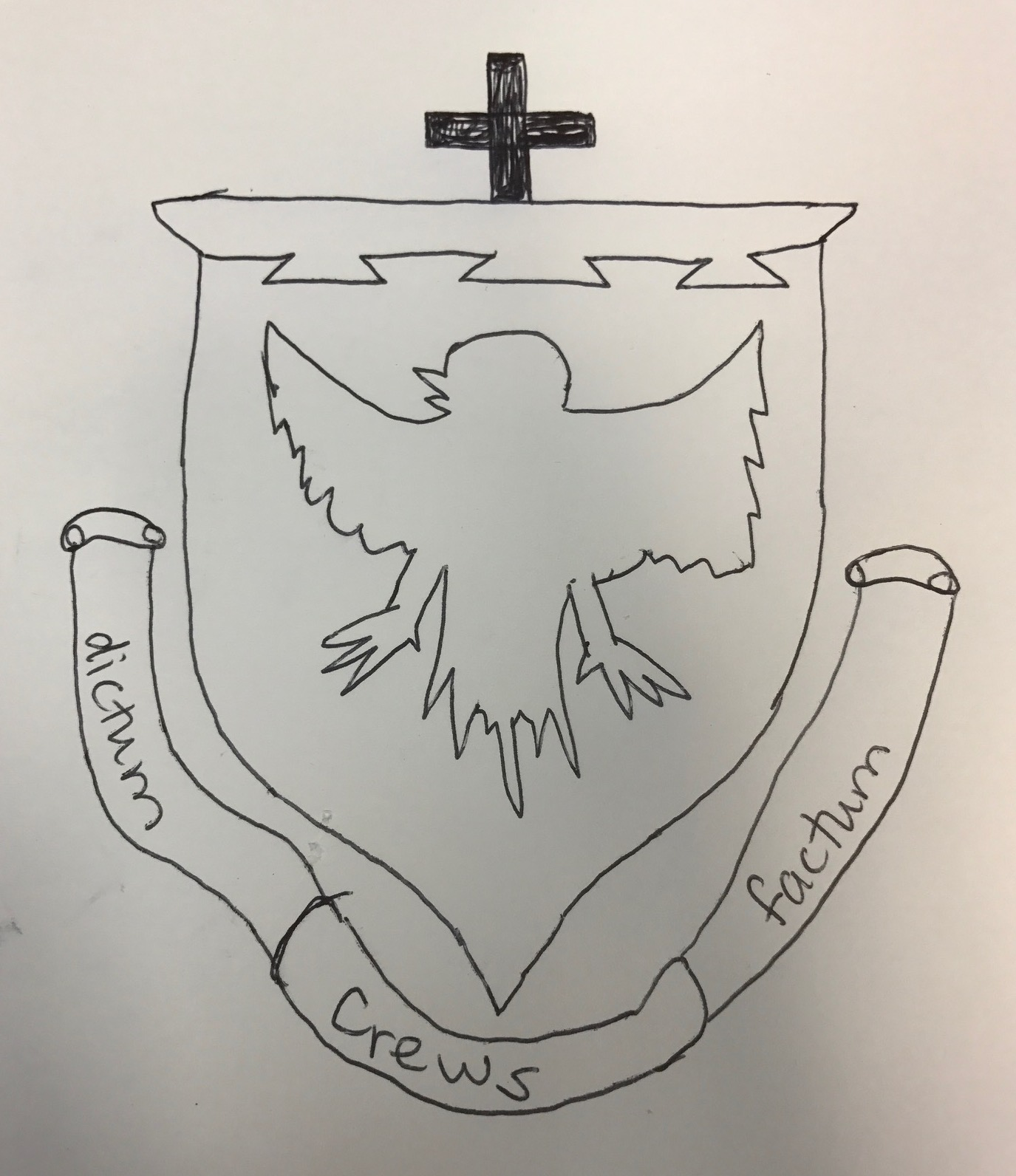 A simple coat of arms (emblem) I designed for a client from the USA based on his rough sketch 2