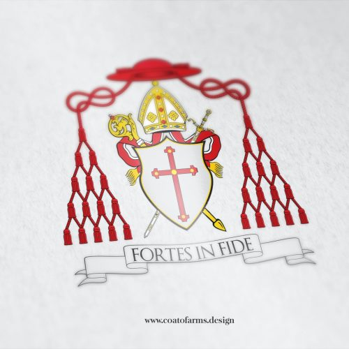 Coat of arms (church) I designed for a bishop Bernard Joseph Harrington from the USA