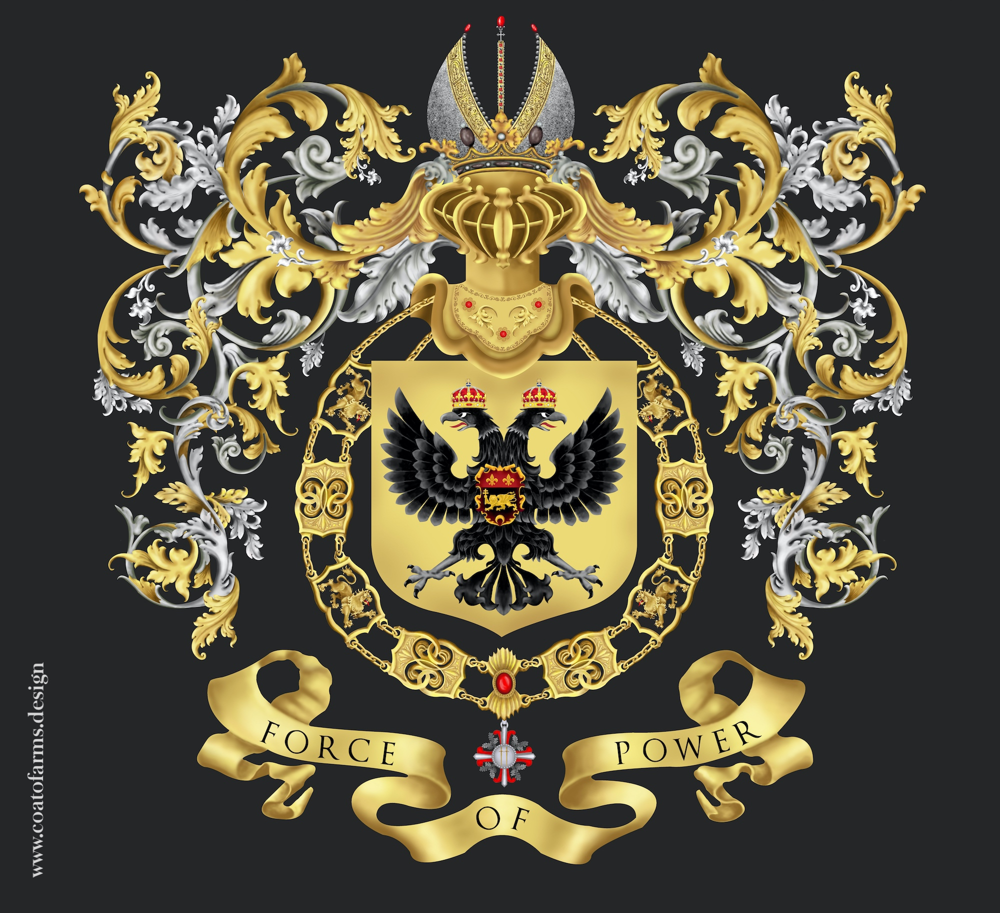 Coat of arms (family crest) I designed for an attorney family from Austria big