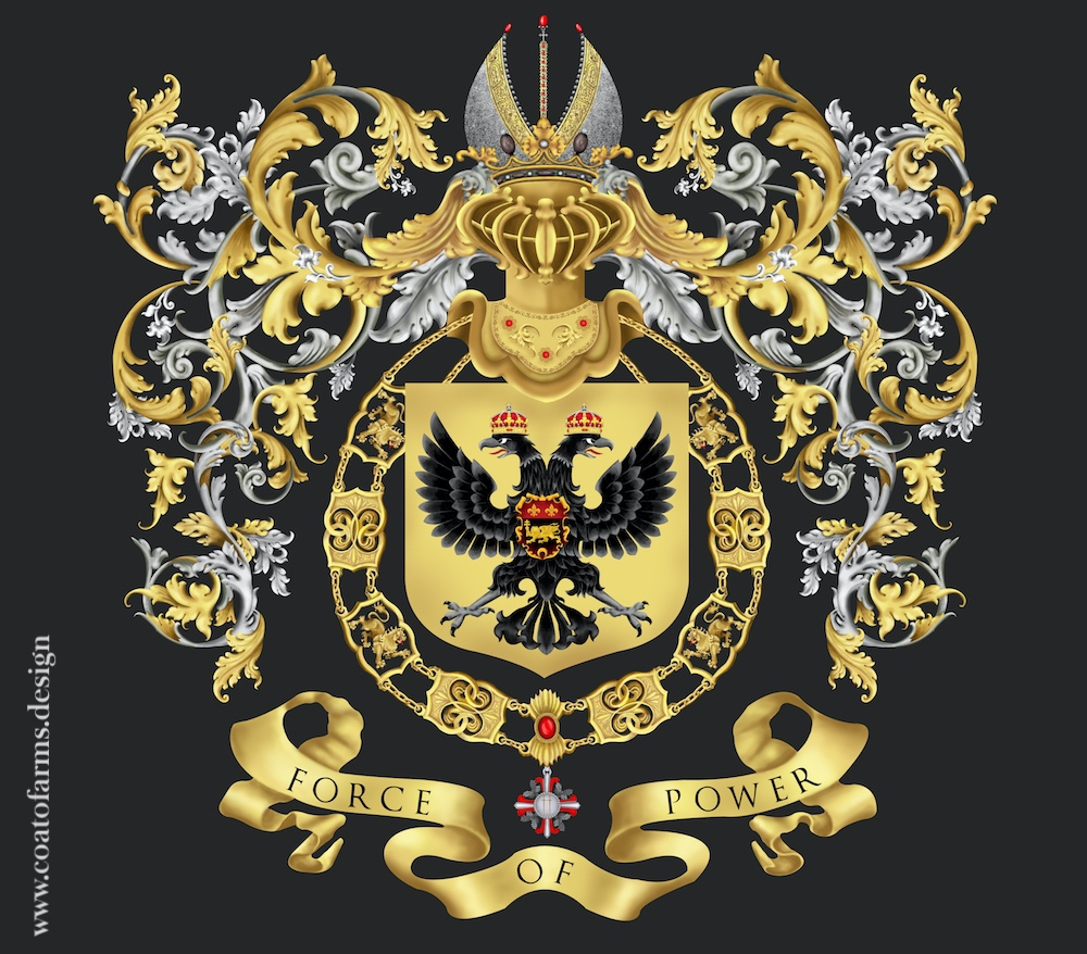 Coat of arms (family crest) I designed for an attorney family from Austria front