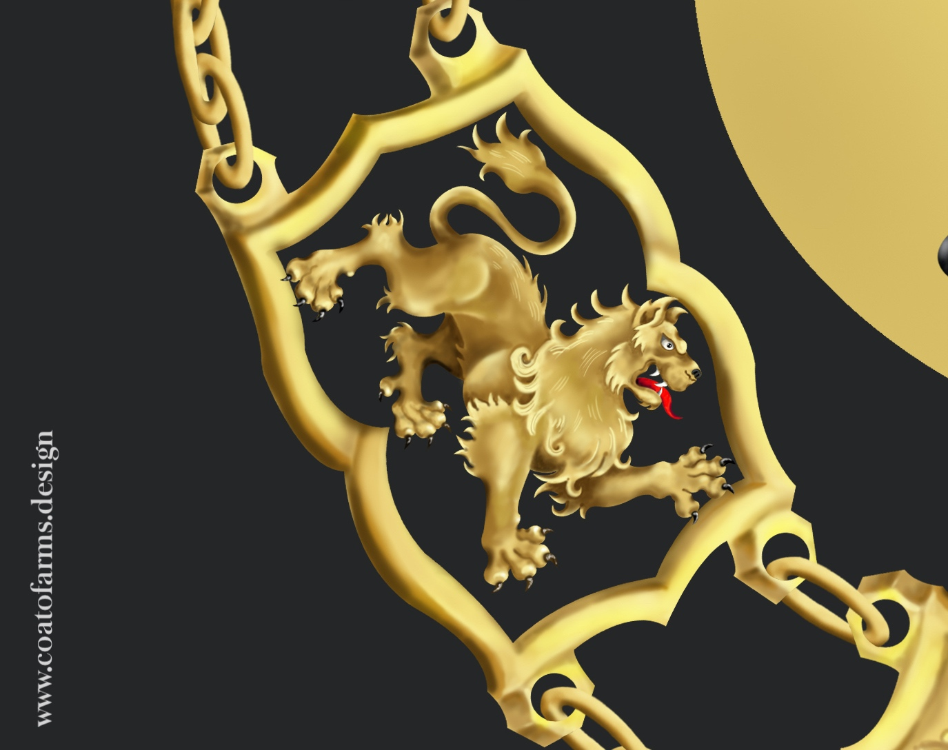 Coat of arms (family crest) I designed for an attorney family from Austria detail 1