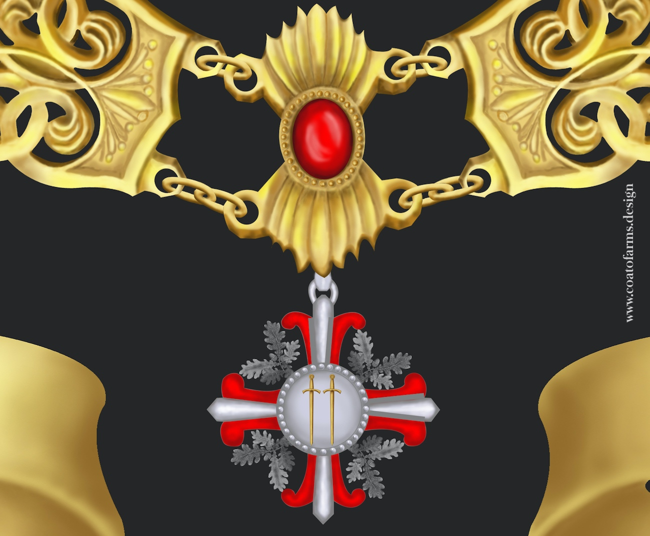 Coat of arms (family crest) I designed for an attorney family from Austria detail 3