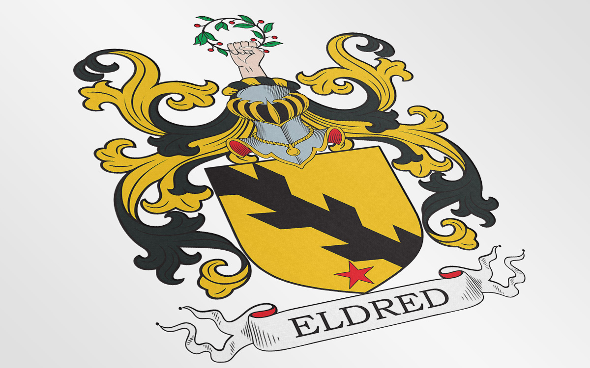Coat of arms I designed for a Eldred family from the UK