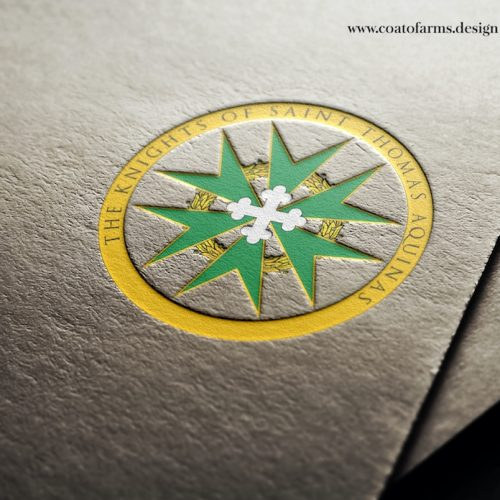 Emblem I designed for a group called THE KNIGHTS OF SAINT THOMAS AQUINAS 1